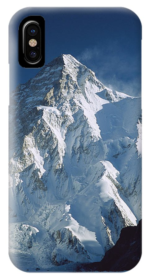 Feb0514 IPhone X Case featuring the photograph K2 At Dawn Pakistan by Colin Monteath