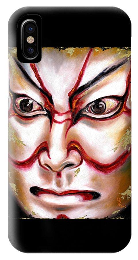 Kabuki IPhone Case featuring the painting Kabuki One by Hiroko Sakai
