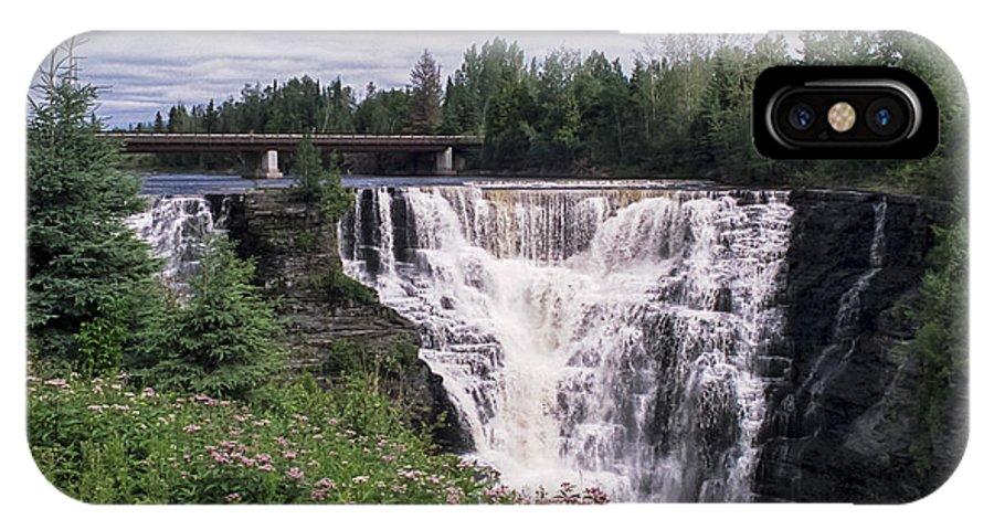 Kakabeka IPhone X Case featuring the photograph Kakabeka Falls by Richard Kitchen
