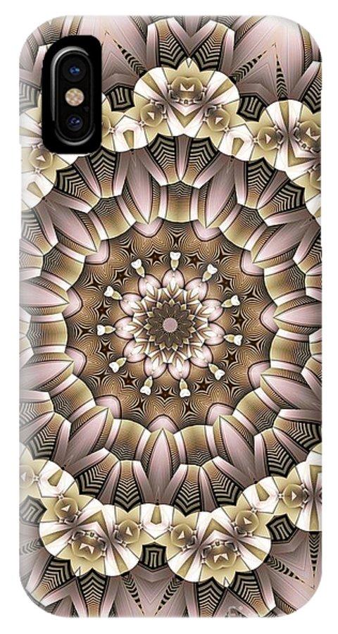 Kaleidoscope IPhone X Case featuring the digital art Kaleidoscope 65 by Ron Bissett