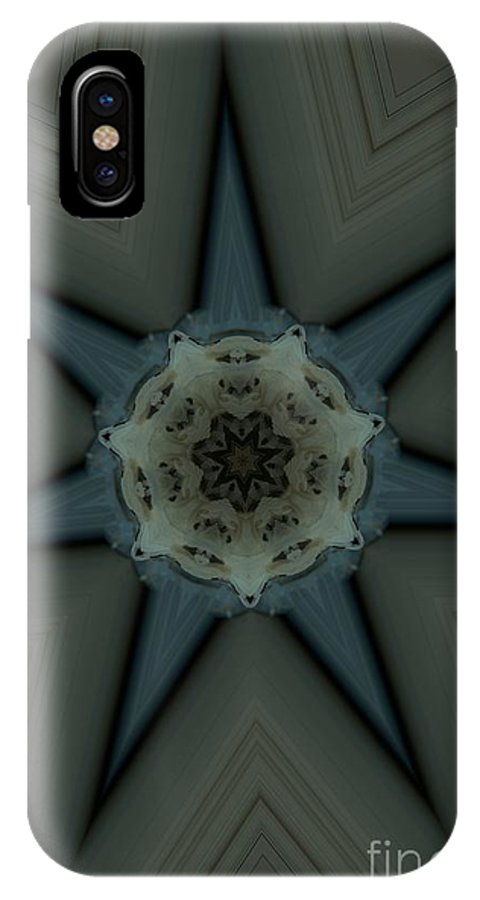 Kaleidoscope IPhone X Case featuring the photograph Kaleidoscope Star by Donna Brown