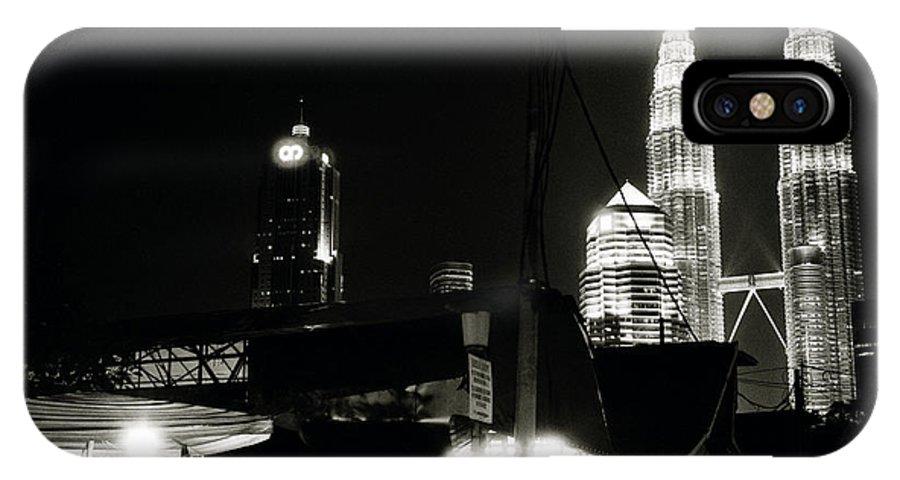 Kampung Baru IPhone X Case featuring the photograph Kampung Baru Petronas Towers by Shaun Higson