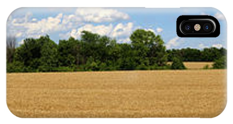 Wheat IPhone X / XS Case featuring the photograph Kansas Wheat Field 3a by Gary Gingrich Galleries