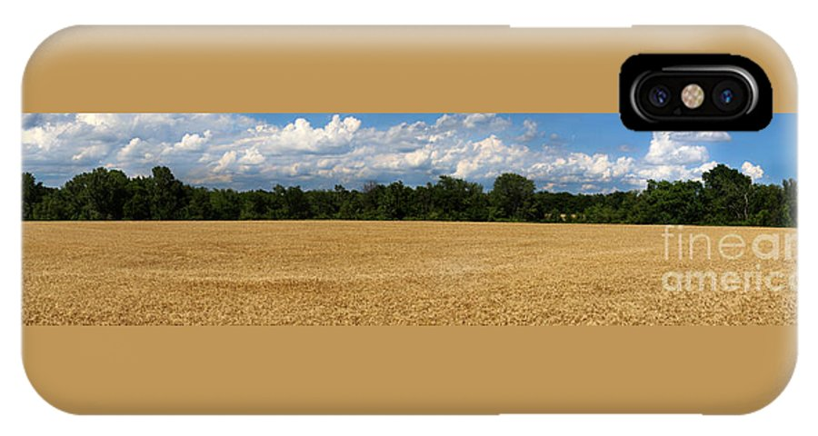 Wheat IPhone X / XS Case featuring the photograph Kansas Wheat Field 5a by Gary Gingrich Galleries