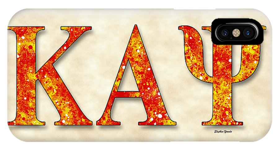 Kappa Alpha Psi IPhone X Case featuring the digital art Kappa Alpha Psi - Parchment by Stephen Younts