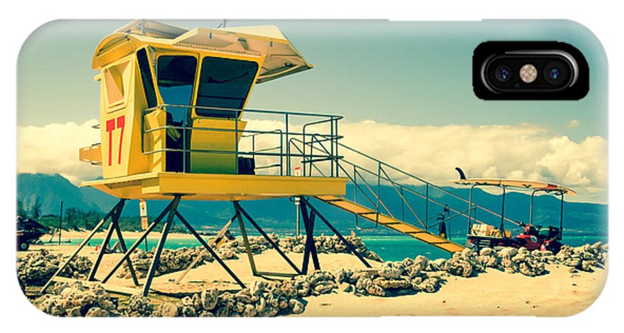 Awakening In Paradise IPhone X Case featuring the photograph Kapukaulua Beach Lifeguard Station Paia Maui Hawaii by Sharon Mau
