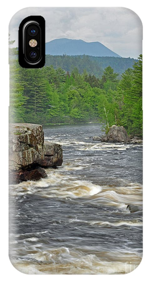 Crib Works IPhone X Case featuring the photograph Katahdin And Penobscot River by Glenn Gordon