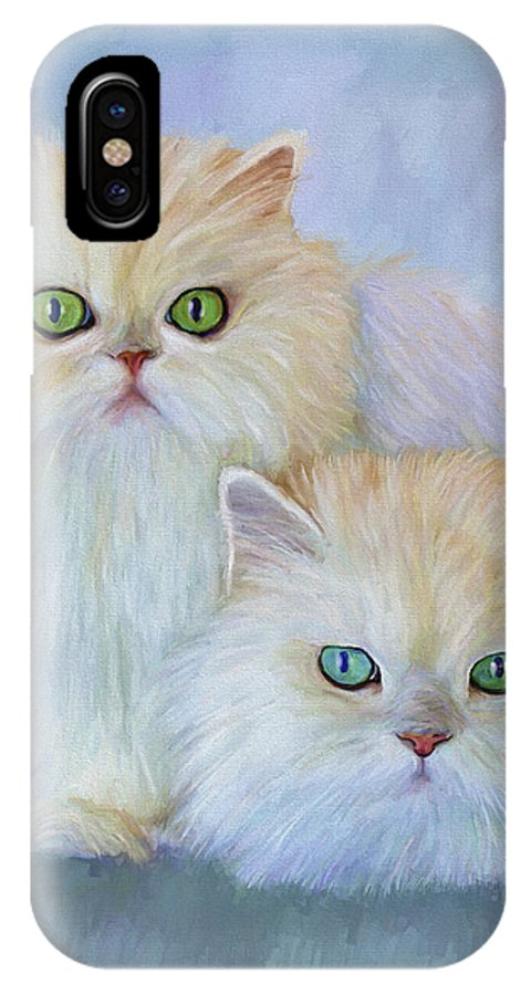 Cat IPhone Case featuring the painting Katrina And Bjorn by David Wagner