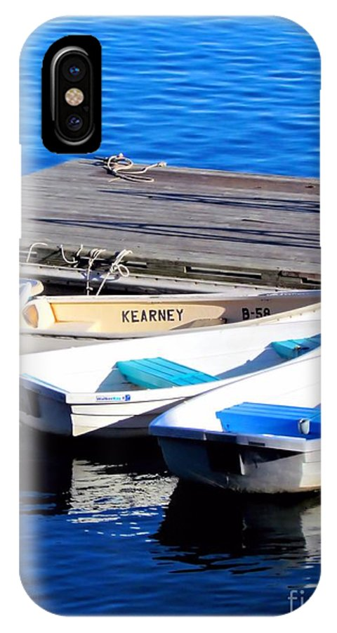 Dinghy IPhone X Case featuring the photograph Kearney by Elizabeth Dow