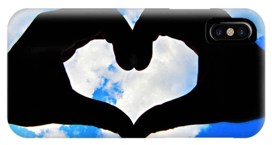 Heart IPhone X Case featuring the photograph Keep Your Heart In The Clouds by Issaac Rickenberg