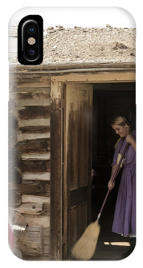 Ghost Town IPhone X Case featuring the photograph Keeping Tidy by Jason Standiford