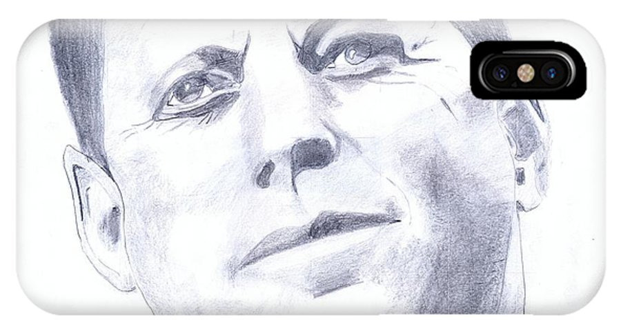 Kennedy IPhone X Case featuring the drawing Kennedy by Zdvj Grdh