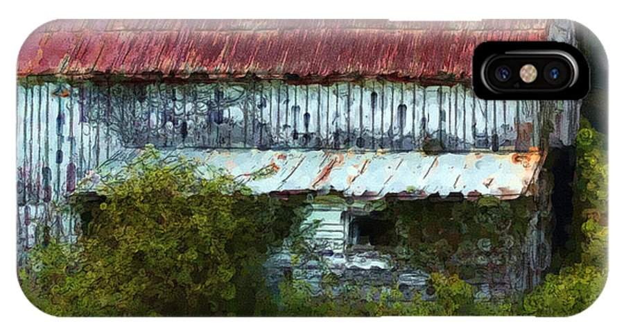Barn IPhone X Case featuring the digital art Kentucky Barn In Summer by George Ferrell