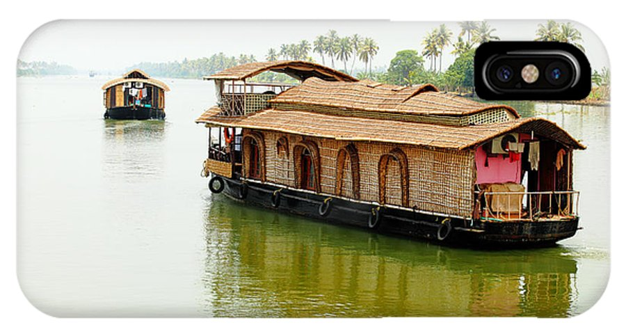 Palm IPhone X Case featuring the photograph Kerala Houseboats by Paul Cowan