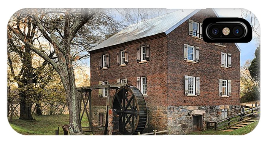 Kerr Mill IPhone X / XS Case featuring the photograph Kerr Grist Mill by Adam Jewell