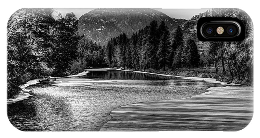 Kettle River IPhone X Case featuring the photograph Kettle Black And White by John Greaves