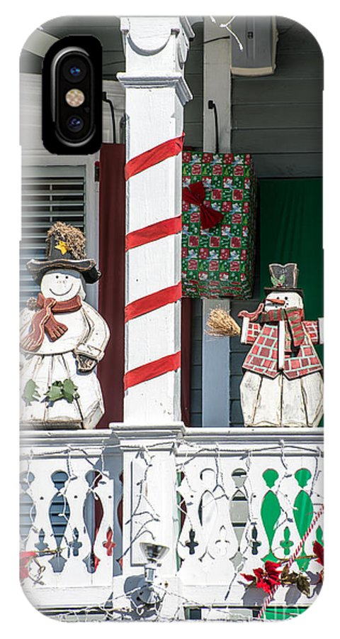 America IPhone X Case featuring the photograph Key West Christmas Decorations 2 by Ian Monk