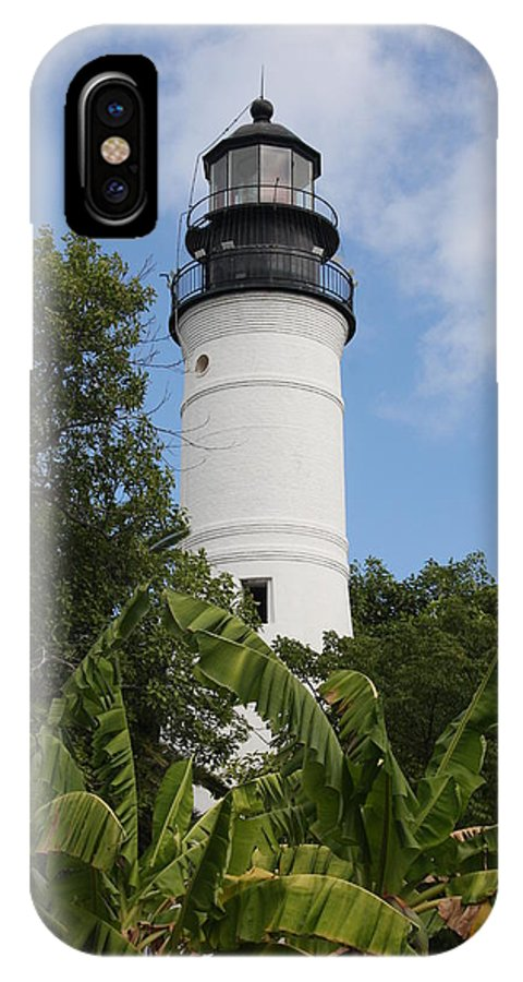 Ligthouse IPhone X Case featuring the photograph Key West Lighthouse by Christiane Schulze Art And Photography