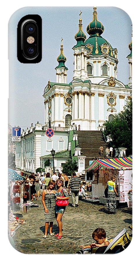 Ukraine IPhone X Case featuring the photograph Kiev Andreyevsky Spusk1 by Leonid Rozenberg