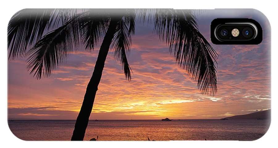 Coastline IPhone X Case featuring the photograph Kihei Sunset by David Olsen