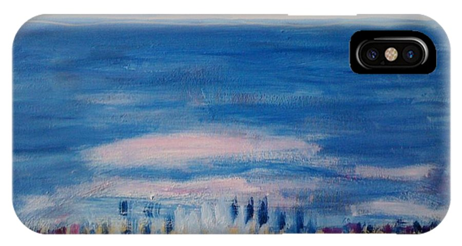 Cities IPhone X Case featuring the painting Kingston by Danielle Landry