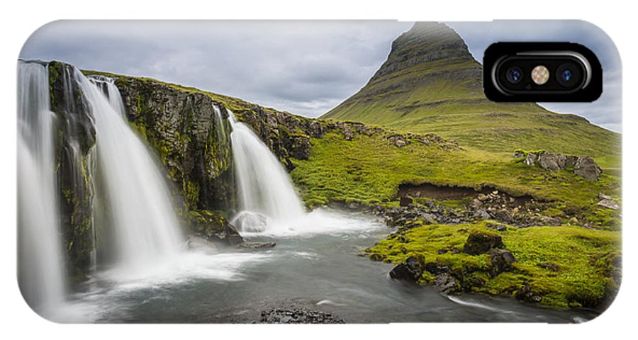Iceland IPhone X Case featuring the photograph Kirkjufellsfoss by Simon Gelfand