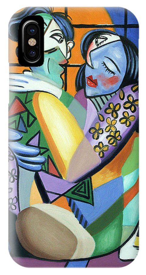 Kiss Me IPhone X Case featuring the painting Kiss Me by Anthony Falbo