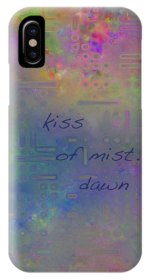 Haiga IPhone X Case featuring the digital art Kiss Of Mist Haiga by Judi Suni Hall
