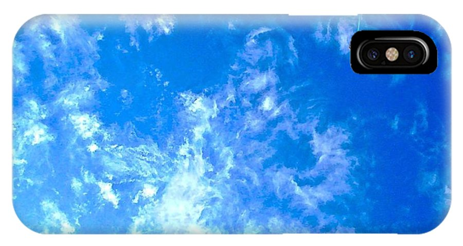 Kite IPhone X / XS Case featuring the photograph Kite In The Clouds by Dana Doyle