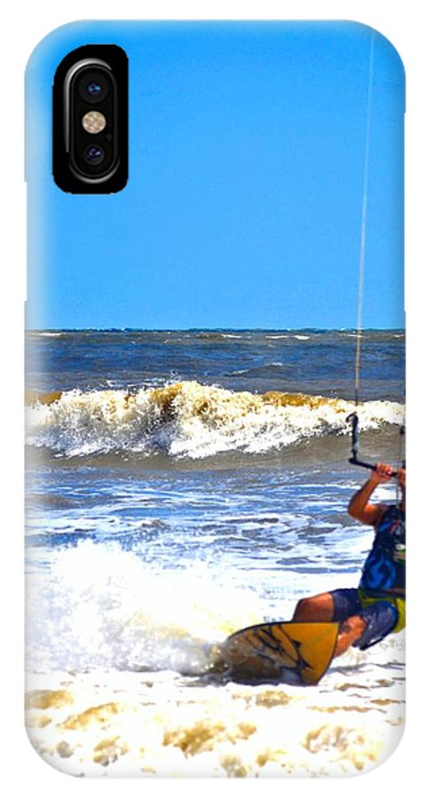 Kite Surfer IPhone X Case featuring the photograph Kite Surfer by Tara Potts