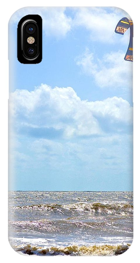 Wind Surfing IPhone X Case featuring the photograph Kite Surfing by Tara Potts