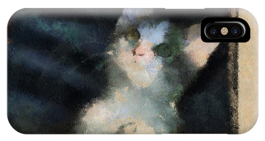 Cat IPhone X Case featuring the photograph Kitty Photo Art 05 by Thomas Woolworth