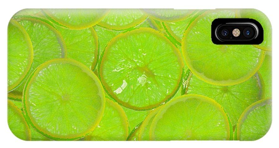 Kiwi Lemon Orange IPhone X Case featuring the digital art Kiwi Lemon Orange by Mando Xocco