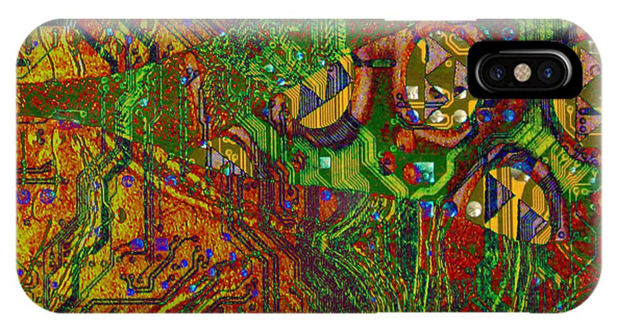 Digital Art IPhone X / XS Case featuring the digital art Klimt Honor by Mary Clanahan