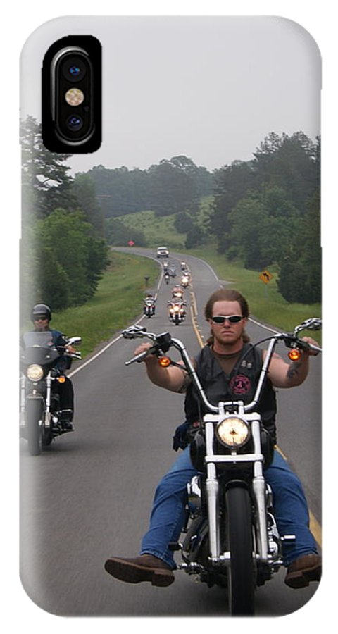 Motorcycle IPhone X Case featuring the photograph Knees In The Breeze by Michelle Cawthon