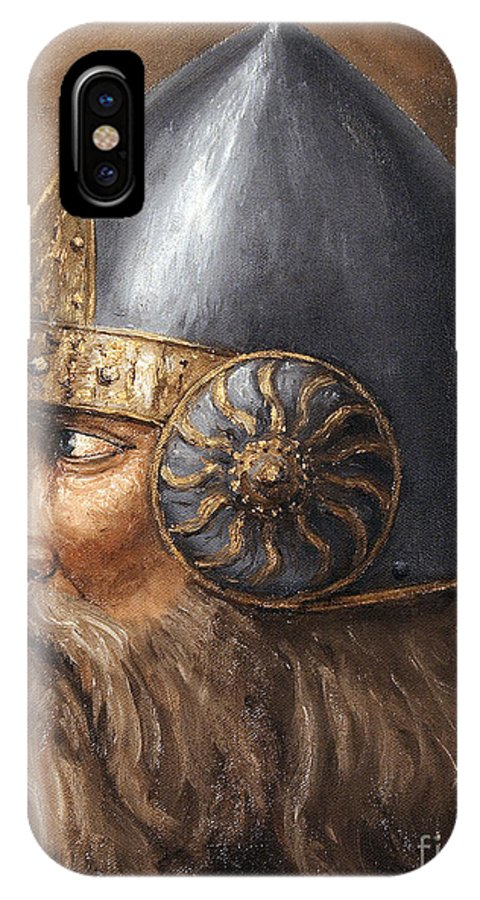 Medieval IPhone X Case featuring the painting Knight by Arturas Slapsys