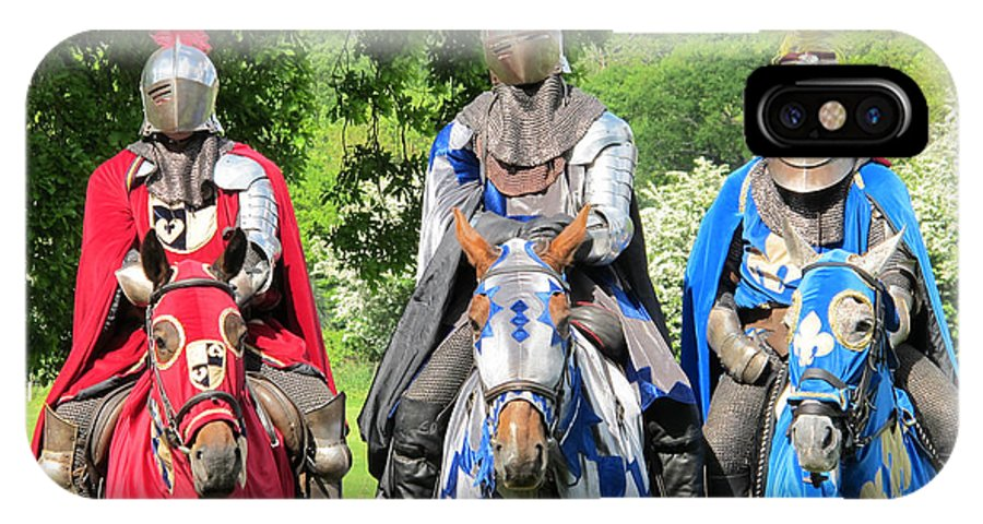 Knights IPhone X Case featuring the photograph Knights In Shining Armor by Bob Parr