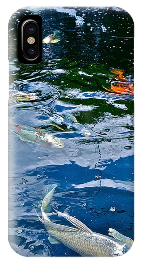 Koi IPhone X Case featuring the photograph Koi 3 by Jason Layden