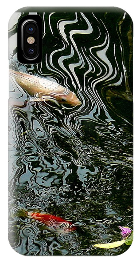 Koi IPhone X / XS Case featuring the photograph Koi In A Pond by Robert Shinn