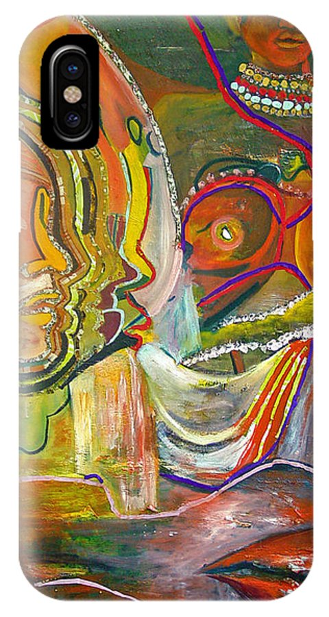 Impressionism IPhone X Case featuring the painting Koulikoro Woman by Peggy Blood