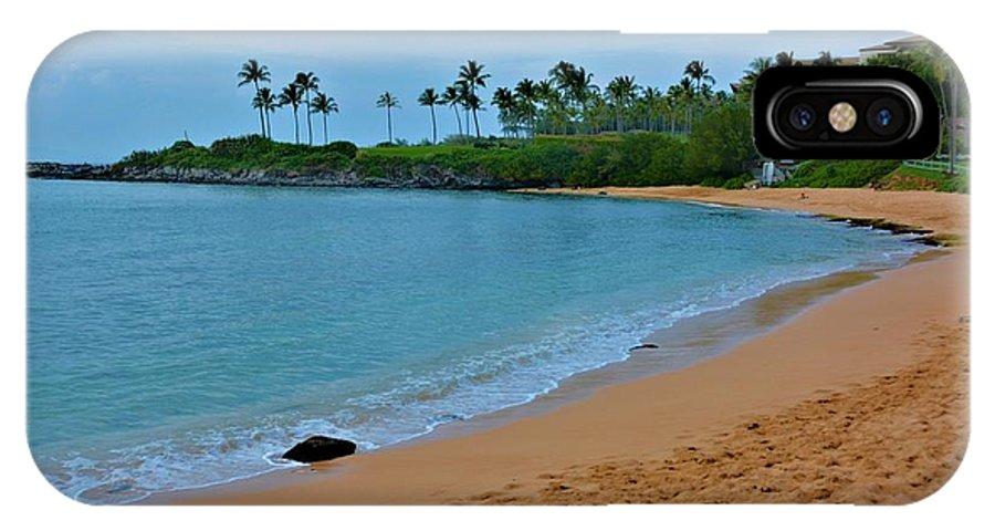 Ocean IPhone X / XS Case featuring the photograph Kpalua Bay Beach by Richard Jenkins