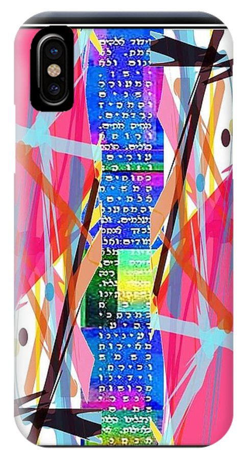 Ktav Vetzura IPhone X Case featuring the digital art Ktav Vetzura by Prosper Abitbol