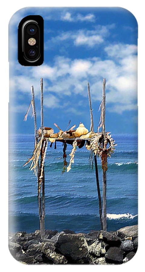 Hawaii IPhone X Case featuring the photograph Ku Emanu Heiau Kona by Kurt Van Wagner