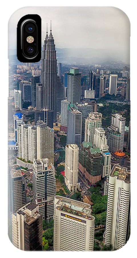 1994 IPhone X / XS Case featuring the photograph Kuala Lumpur City by Adrian Evans