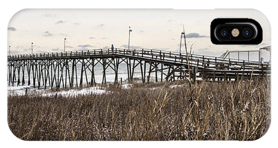 Kure Beach IPhone X Case featuring the photograph Kure Beach Pier by Marie Kirschner