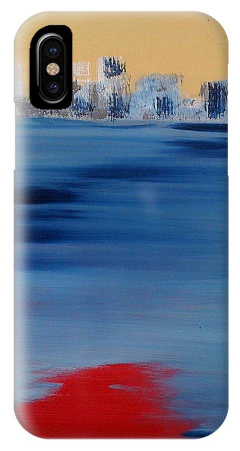 Cities IPhone X Case featuring the painting L Ile Des Soeurs L Apres Midi by Danielle Landry