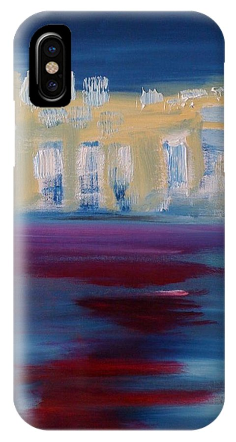 Cities IPhone X Case featuring the painting L Ile Des Soeurs Le Matin by Danielle Landry