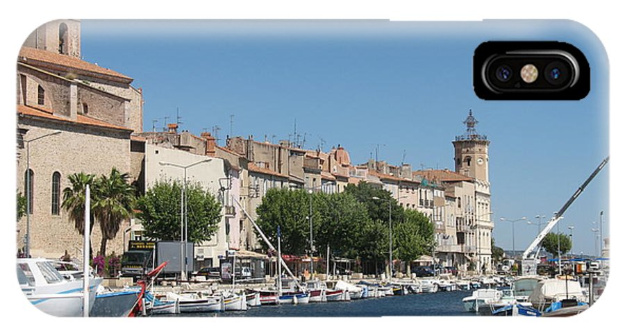 Habor IPhone X Case featuring the photograph La Ciotat Harbor by Christiane Schulze Art And Photography