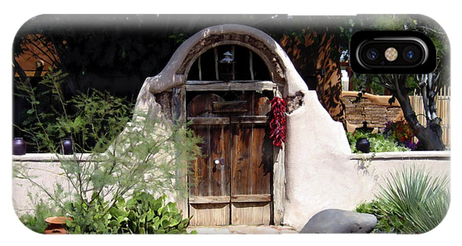 Doors IPhone X Case featuring the photograph La Entrada A La Casa Vieja De Mesilla by Kurt Van Wagner