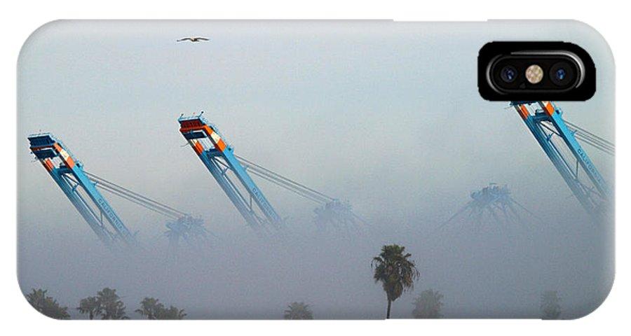 Fog IPhone X Case featuring the photograph La Harbor Never Sleeps by Joe Schofield